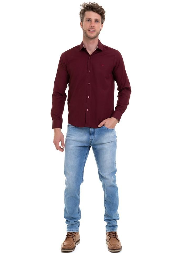 Camisa Masculina Manga Longa Slim Conexão