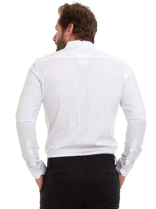 Camisa Masculina Slim Manga Longa Conexão