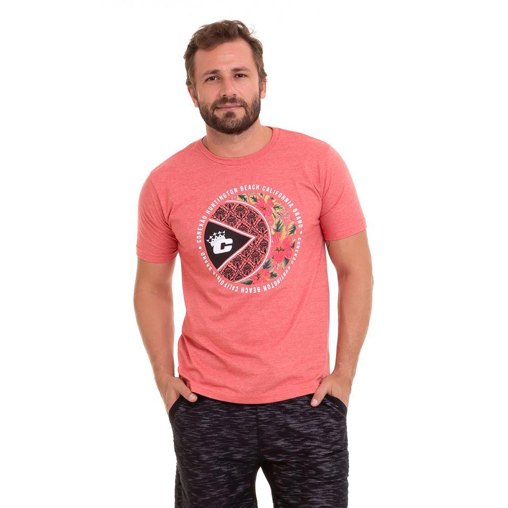 Camiseta Estampada Silk Floral Manga Curta Masculina Conexão