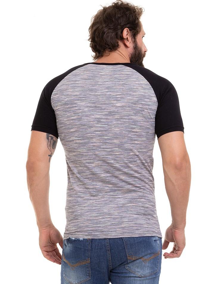 Camiseta Masculina Manga Curta Reglan Com Bolso Conexão