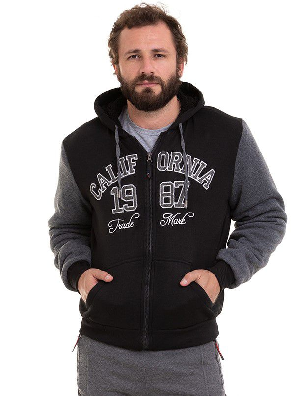Jaqueta Masculina Blusão De Frio Forrado Pele De Carneiro Conexão