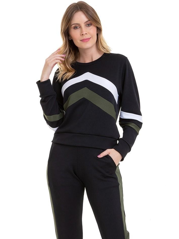 Conjunto Feminino Blusa Com Calça Jogger Conexão