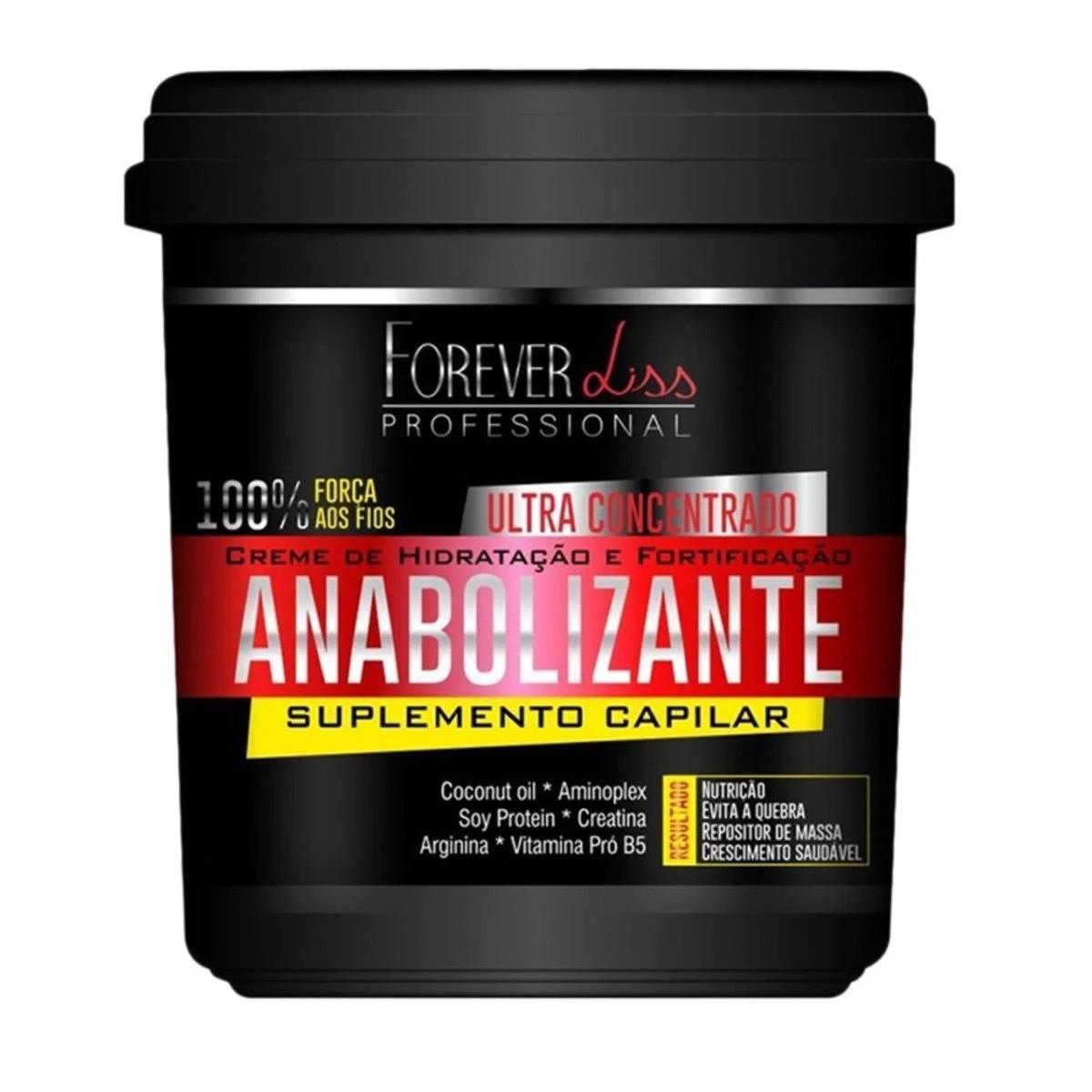 Creme de Hidratação Forever Liss Professional Anabolizante Capilar - 3x 240g
