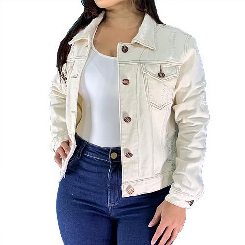Jaqueta Feminina Jeans Cru Classic Collection Conexão