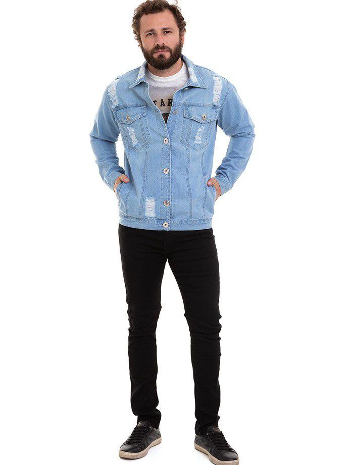 Jaqueta Masculina Jeans Premium Denim Conexão