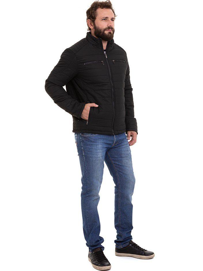 Jaqueta Masculina Clássica Nylon Forrada  Inverno Conexão