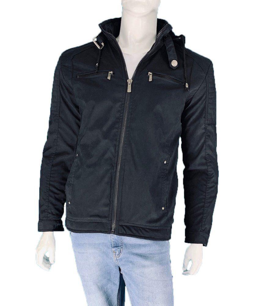 Jaqueta Sarja de Frio Forrada C/Pele de Carneiro Capuz Masculino Conexão