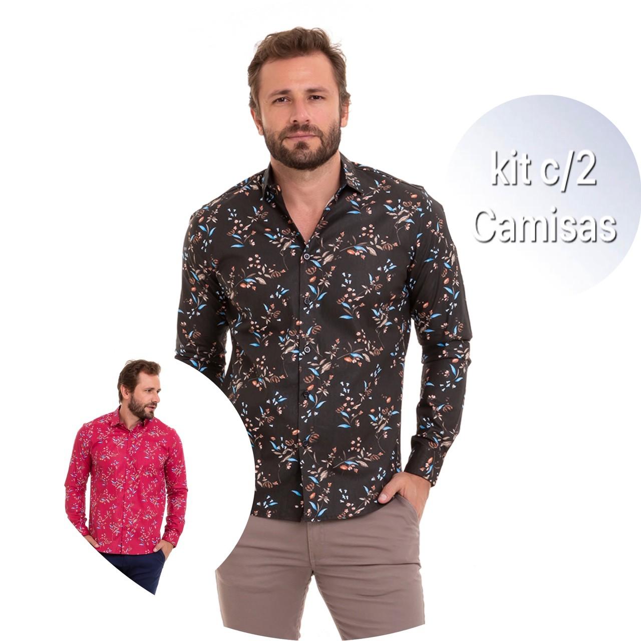Kit C/2 Camisa Masculina Manga Longa Conexão
