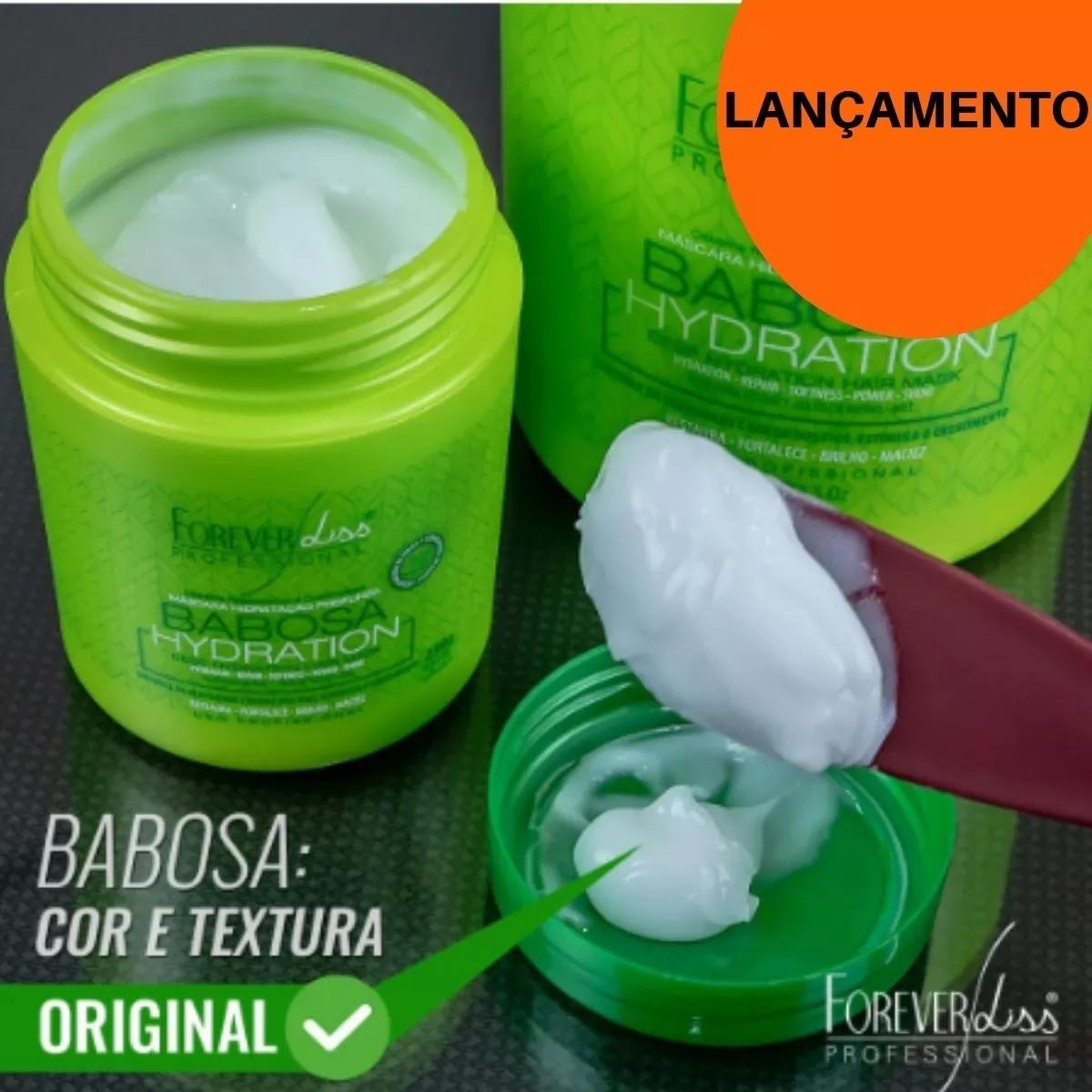 Máscara de Babosa Hidratação Profunda Forever Liss Tratamento Profissional Kit Com 2 - 950g
