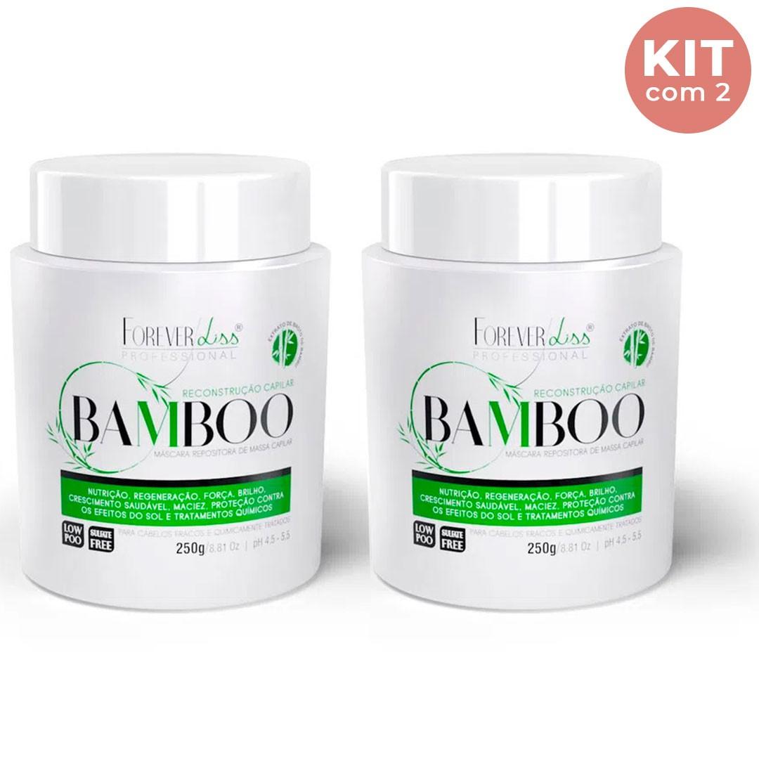 Máscara de Bamboo Regeneradora Forever Liss Kit Com 2 - 250g
