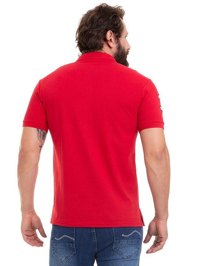 Camisa Masculina Polo Manga Curta Silk com Bordado Conexão