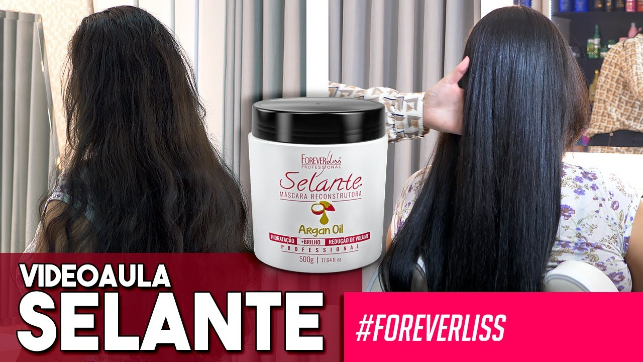Selante Térmico Argan Oil Forever Liss Kit 2x 500g Pronta Entrega