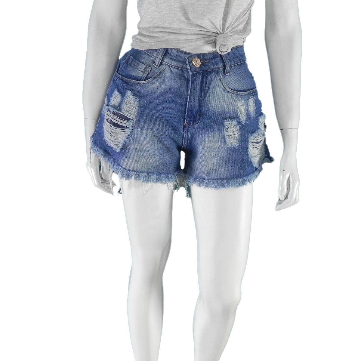 Shorts Feminino Jeans Destroier