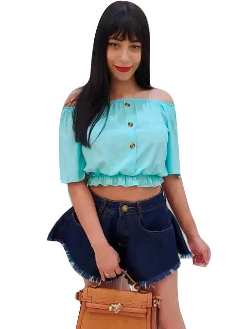Shorts Jeans Cintura Alta Feminino Desfiado Soltinho  Conexão