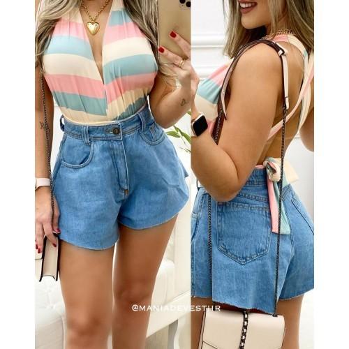 Shorts Jeans Godê Moda Blogueira Lançamento 20/21 Conexão