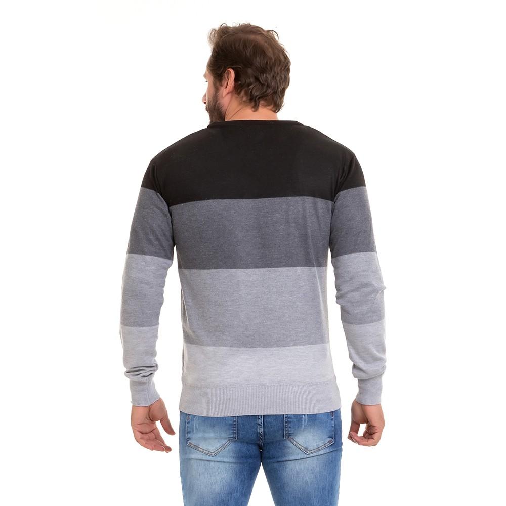 Suéter Blusa de Frio Masculina Tricô Kit C/3 Conexão