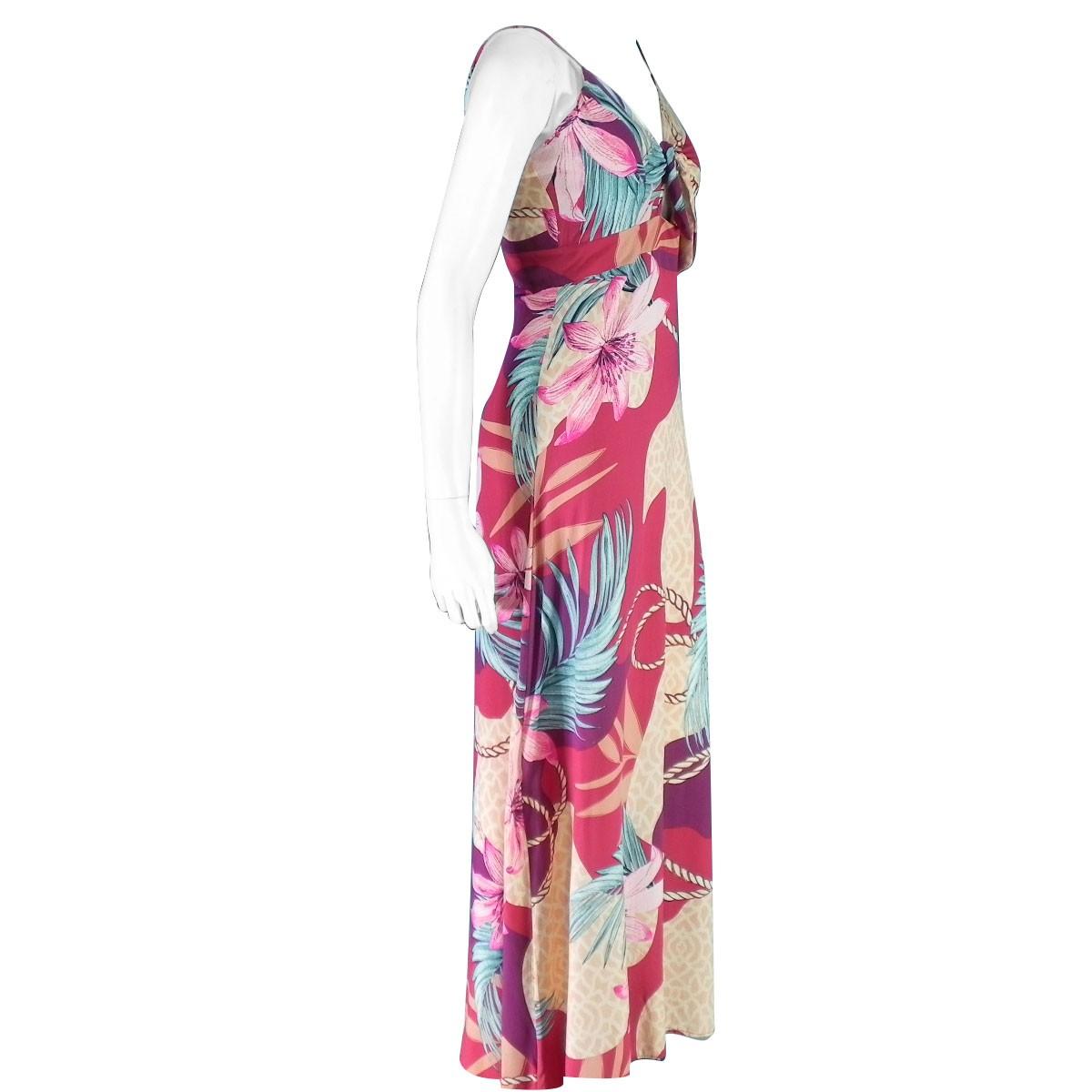 Vestido Longo Estampado Floral Alça Conexão