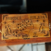 Caixas - c / especiarias - madeira - personalizada