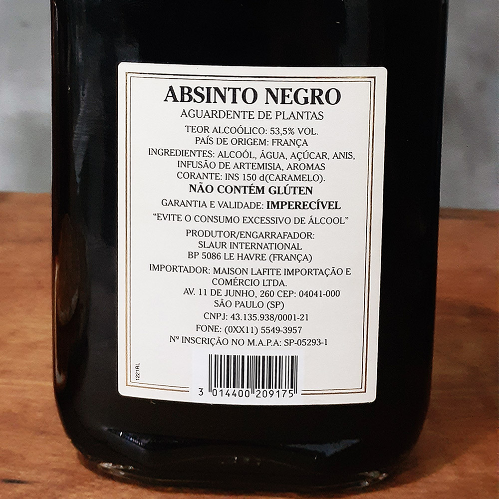 Absinto - Abysse - Negro - 200 ml  - DRUNK DOG DELIVERY