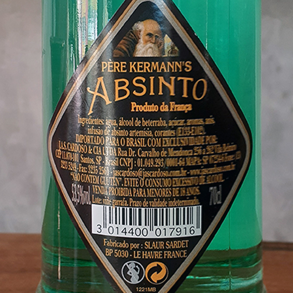 Absinto - Pere Kermanns - 700 ml  - DRUNK DOG DELIVERY