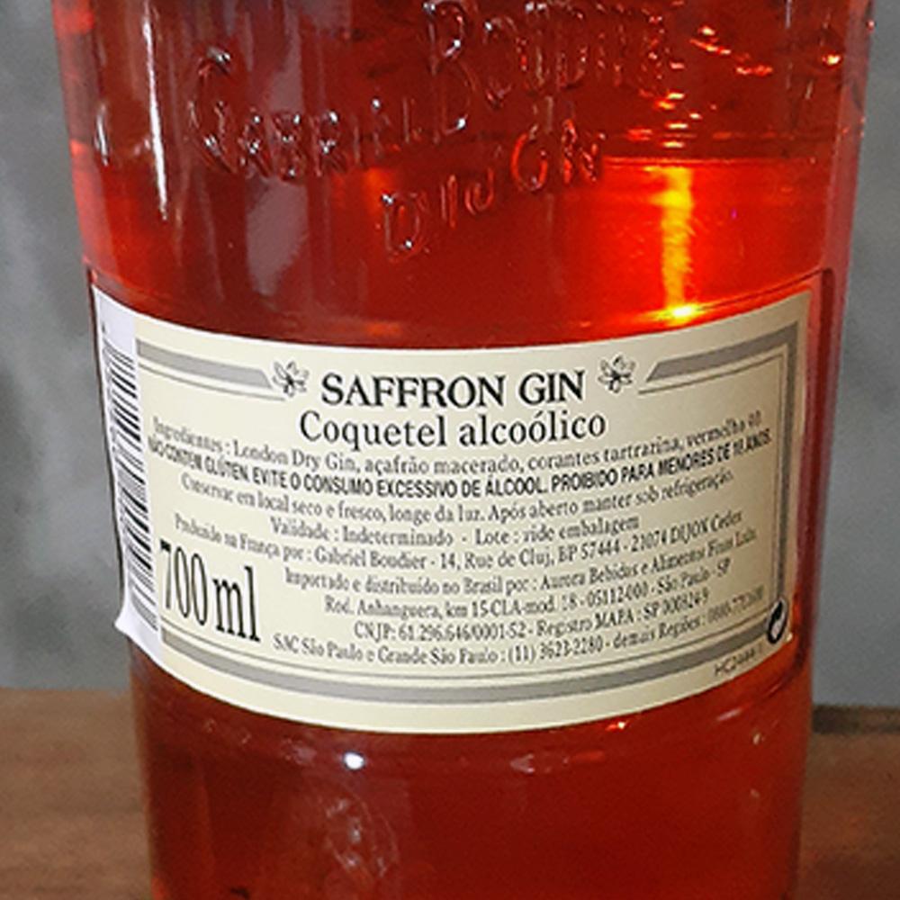 Gin - Gabriel Boudier Safron - 700 ml  - DRUNK DOG DELIVERY