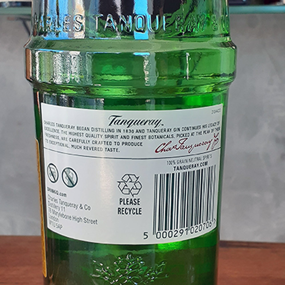 Gin - Tanqueray - 750 ml  - DRUNK DOG DELIVERY