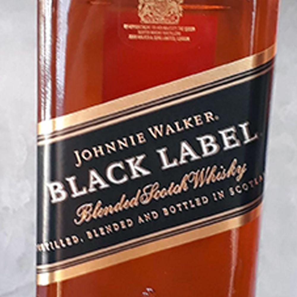 Whisky Johnnie Walker - Black Label - 12 anos - 1.000 ml  - DRUNK DOG DELIVERY