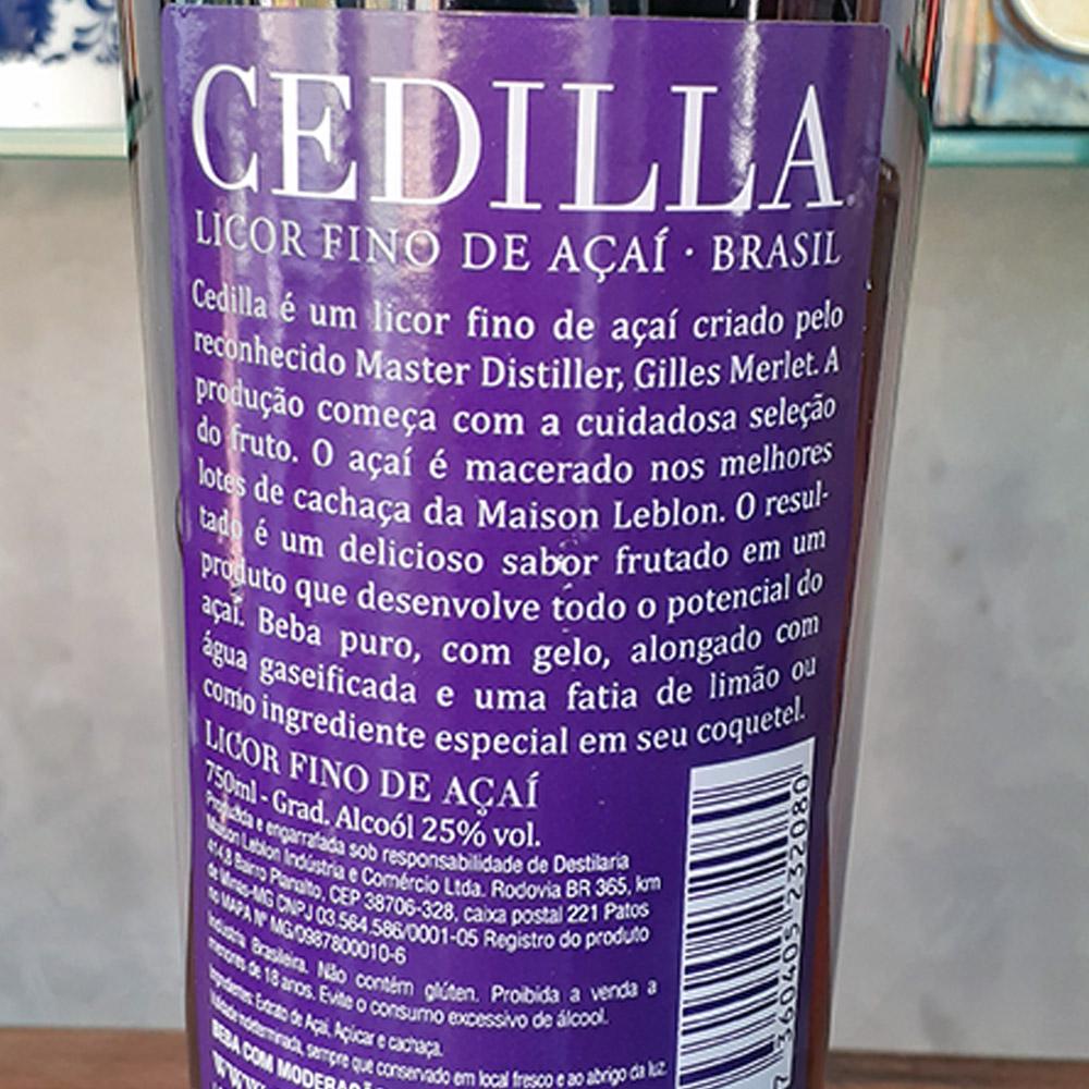 Licor - Açai - Cedilla - 750 ml  - DRUNK DOG DELIVERY