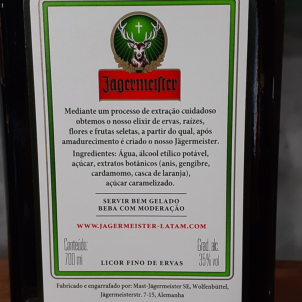 Licor - Jagermeister - 700 ml  - DRUNK DOG DELIVERY