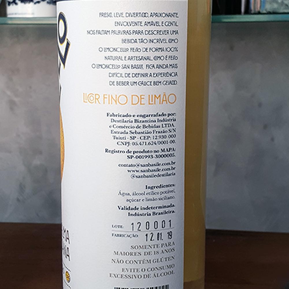 Licor - Limoncello - San Basile - 750 ml  - DRUNK DOG DELIVERY
