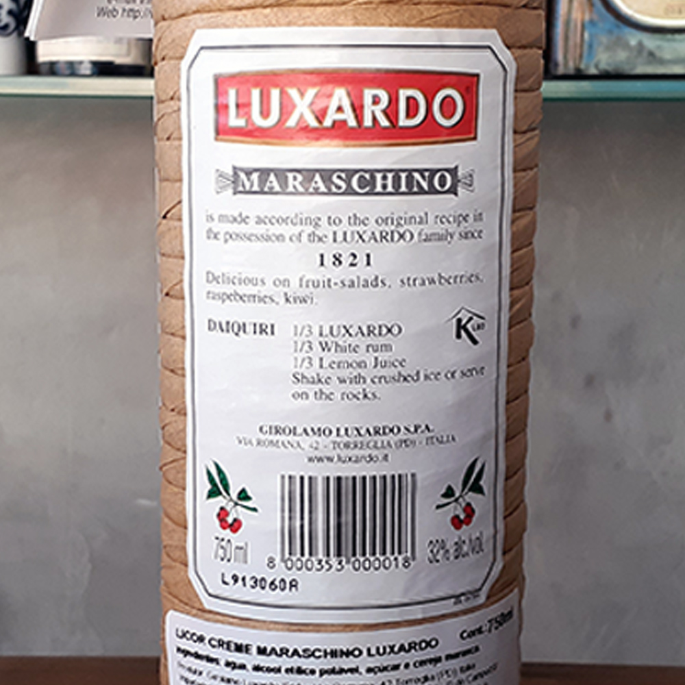 Licor - Maraschino - Luxardo 750 ml  - DRUNK DOG DELIVERY
