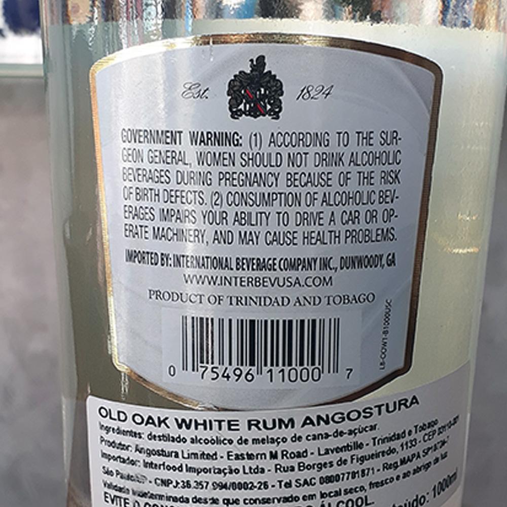 Rum - Angostura - White Oak - 1 lt  - DRUNK DOG DELIVERY