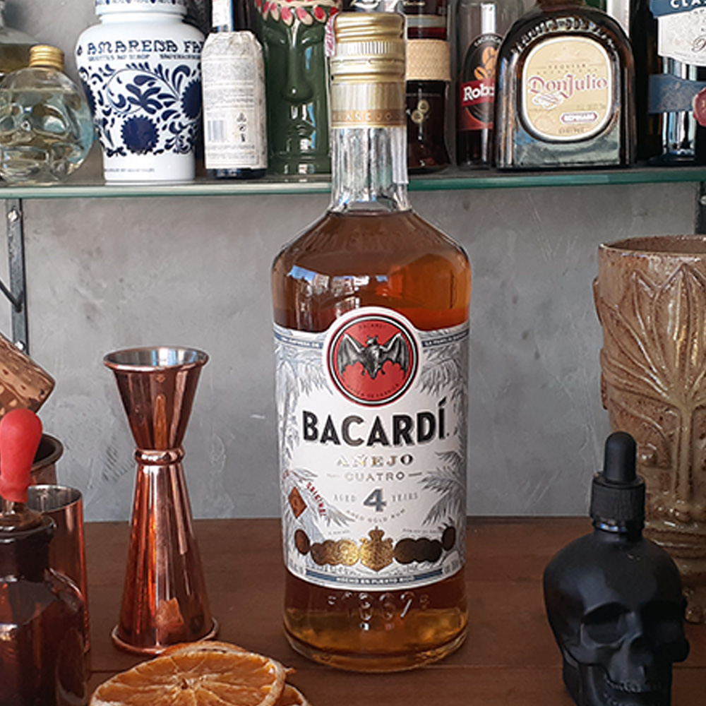 Rum - Bacardi - 4 anos - 750 ml  - DRUNK DOG DELIVERY