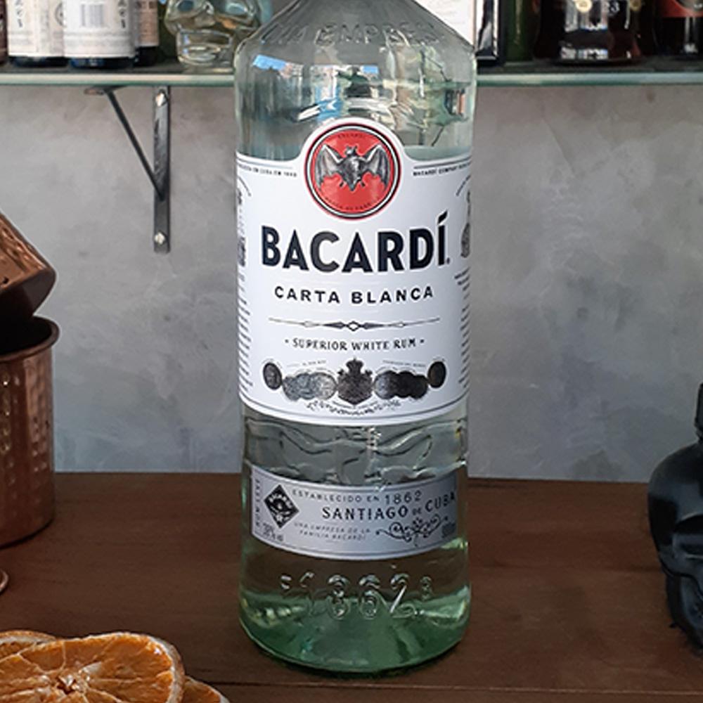 Rum - Bacardi - Carta Branca - 980 ml  - DRUNK DOG DELIVERY