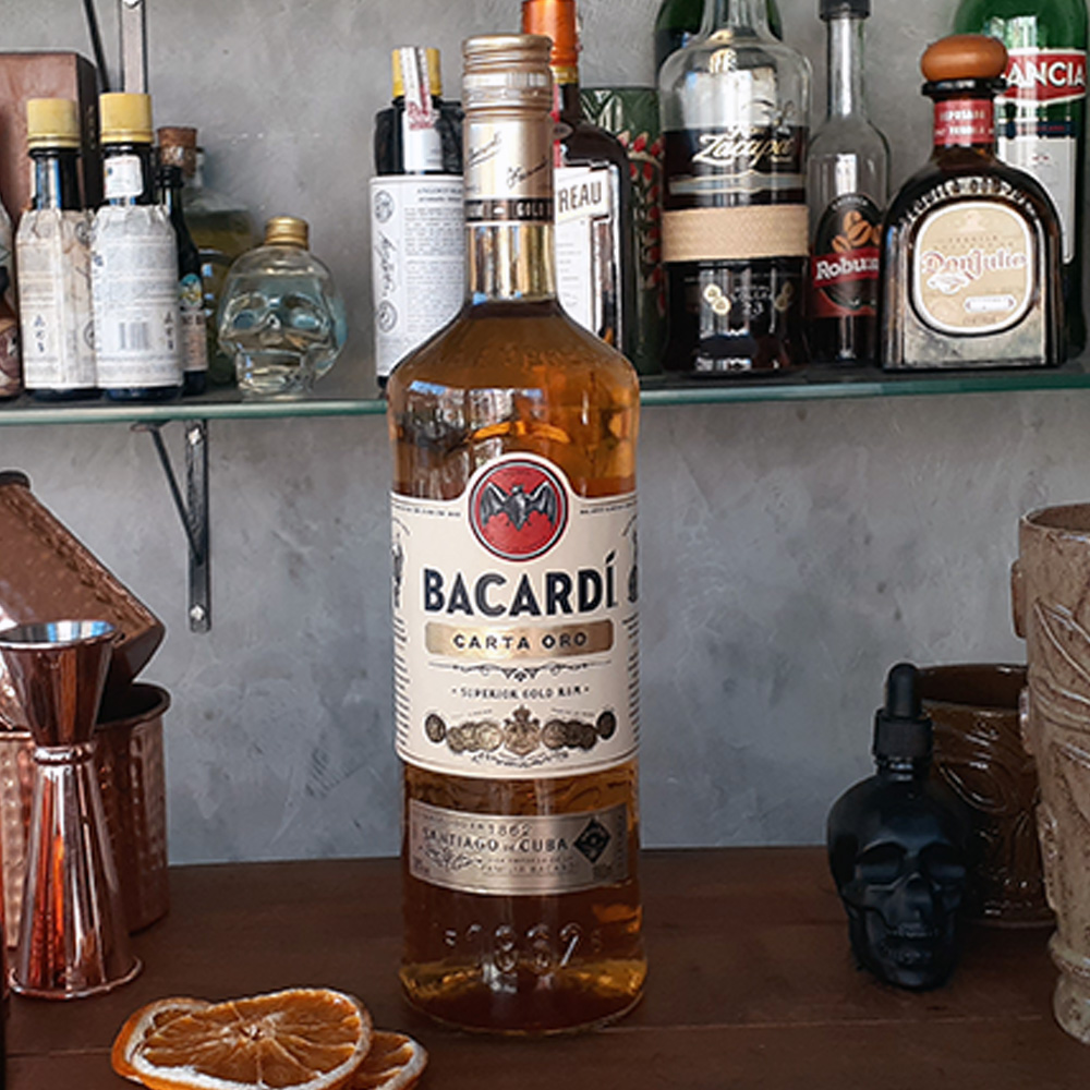 Rum - Bacardi - Carta Ouro - 980 ml  - DRUNK DOG DELIVERY