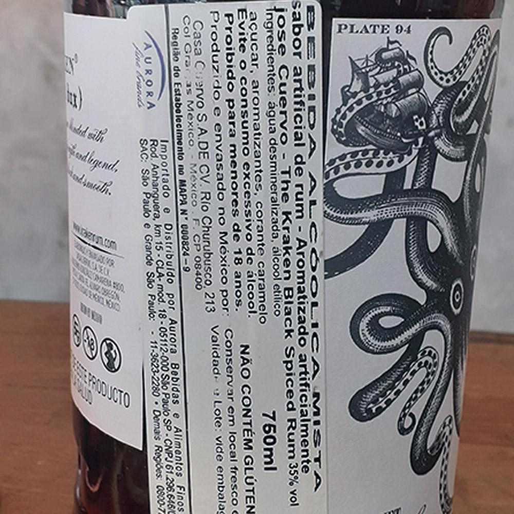 Rum - Kraken - Black Spiced - 750 ml  - DRUNK DOG DELIVERY