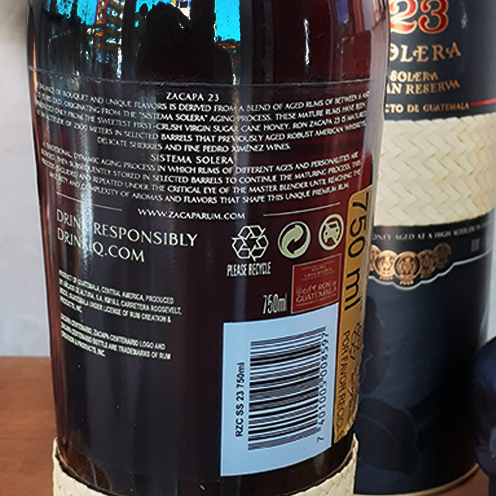 Rum - Zacapa - 23 - 750 ml  - DRUNK DOG DELIVERY