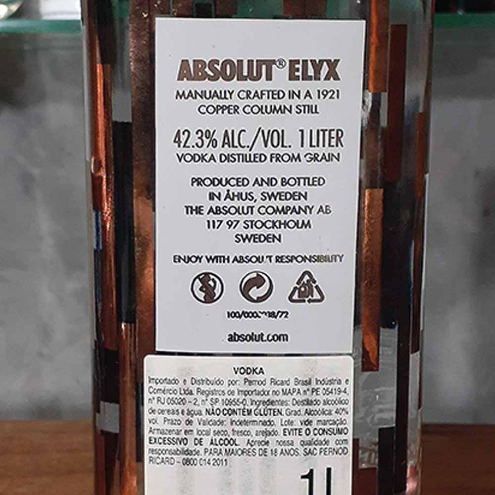 Vodca - Absolut - Elix - 1 lt  - DRUNK DOG DELIVERY