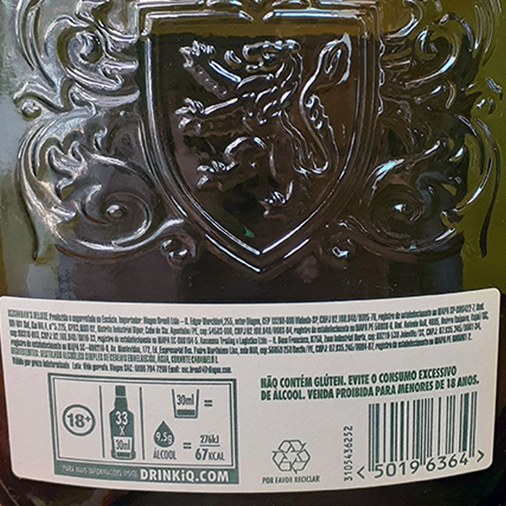 Whisky Buchanans - 12 anos - 1.000 ml  - DRUNK DOG DELIVERY