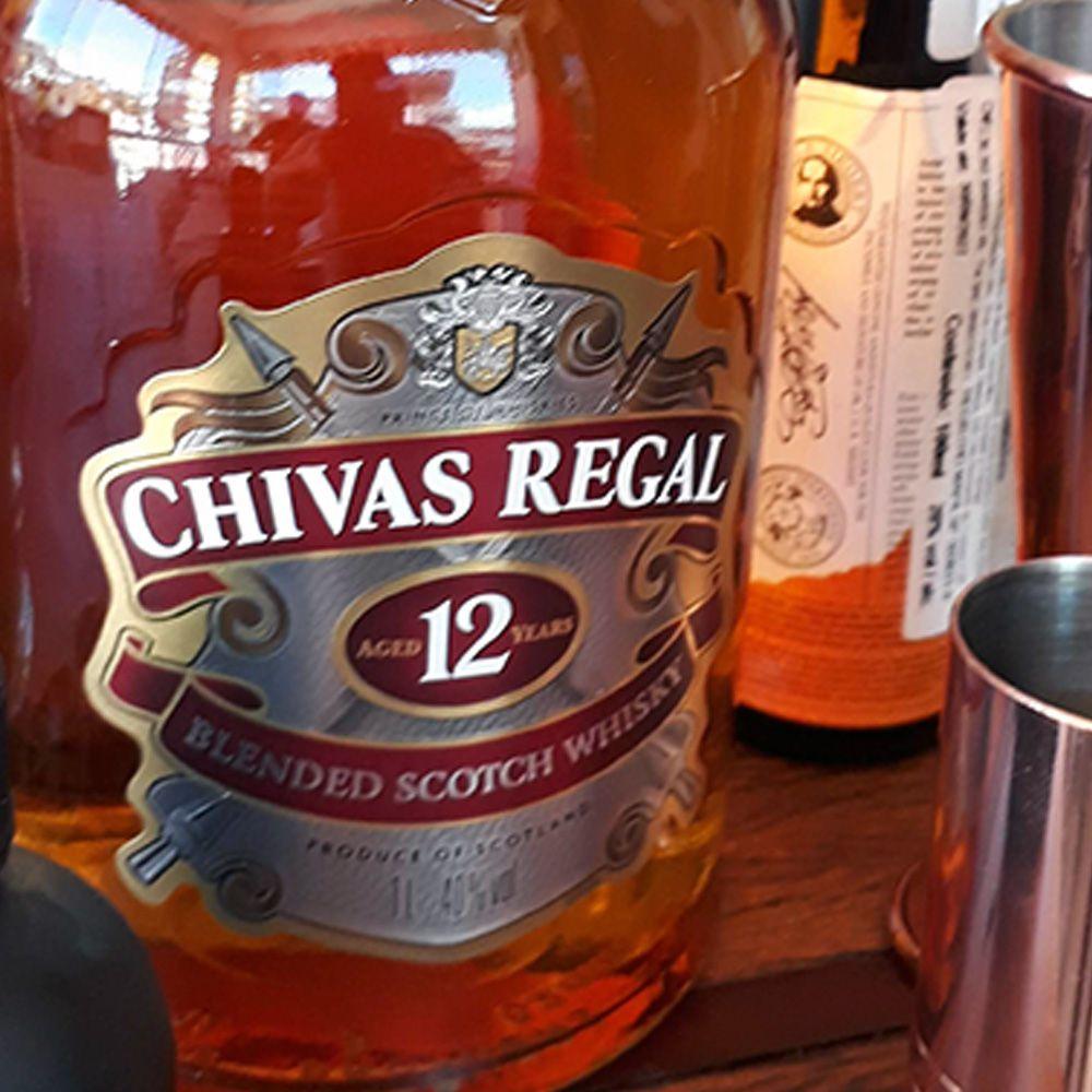 Whisky Chivas Regal - 12 anos - 1.000 ml  - DRUNK DOG DELIVERY