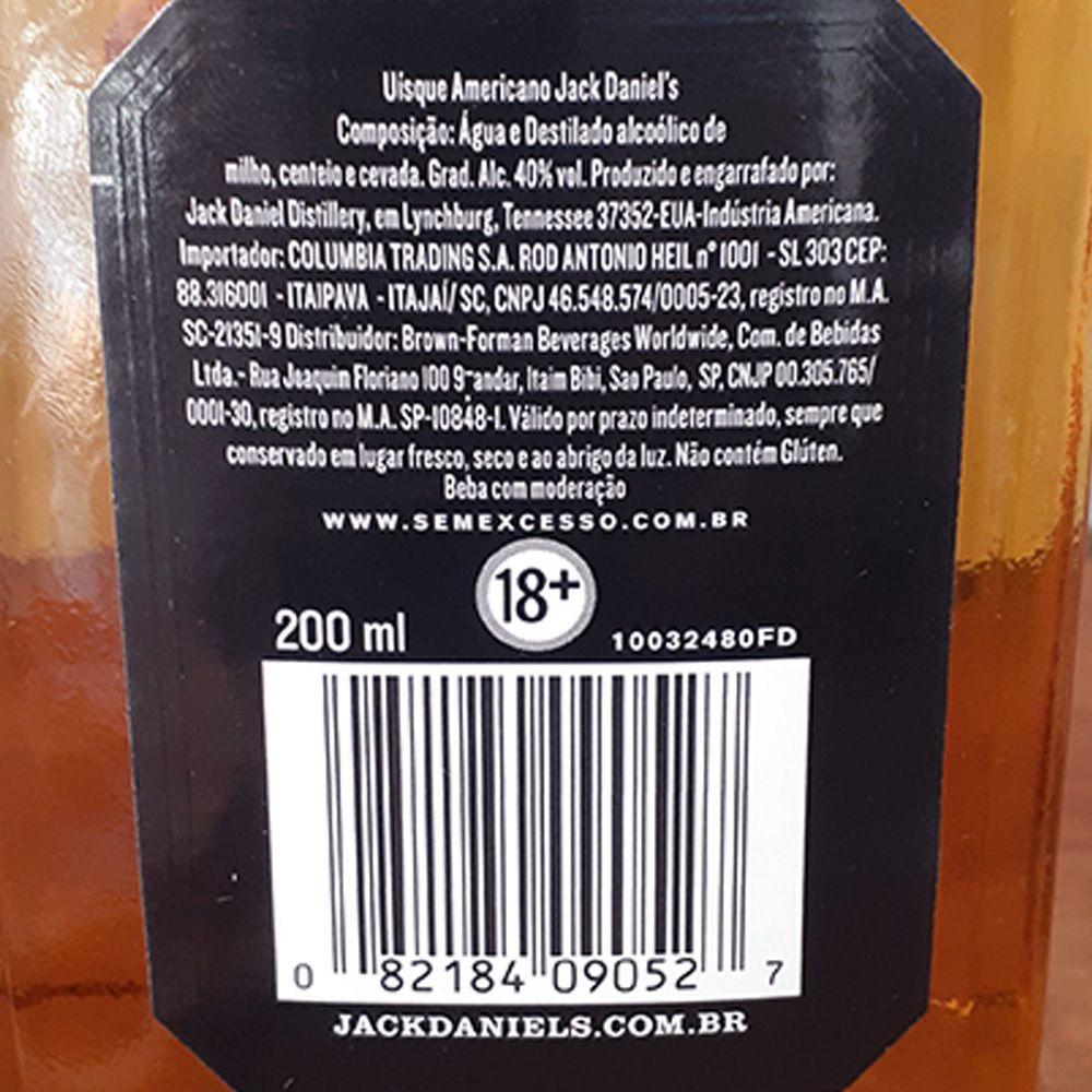 Whiskey Jack Daniels - Miniaturas - 200 ml  - DRUNK DOG DELIVERY