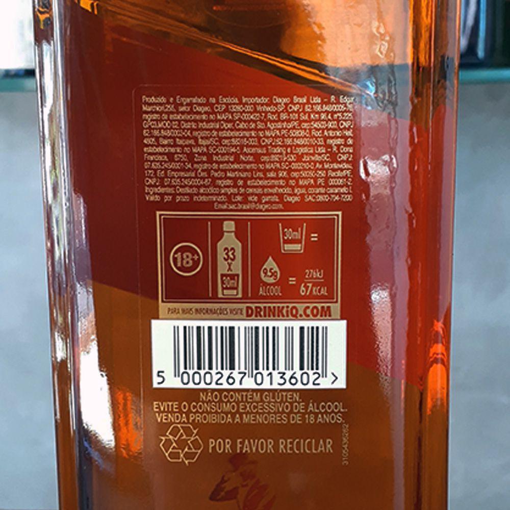 Whisky Johnnie Walker - Red Label - 8 anos - 1.000 ml  - DRUNK DOG DELIVERY