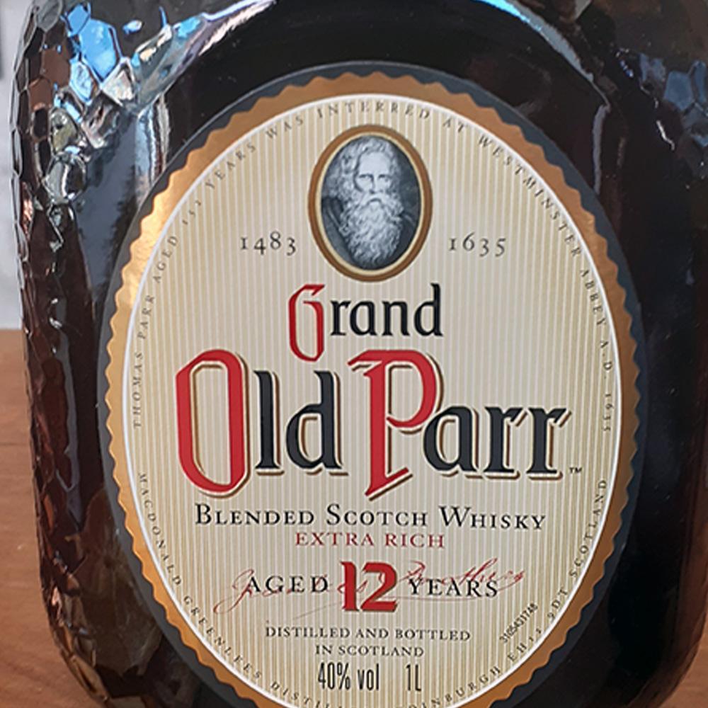 Whisky - Old Parr - 12 anos - 1 lt  - DRUNK DOG DELIVERY