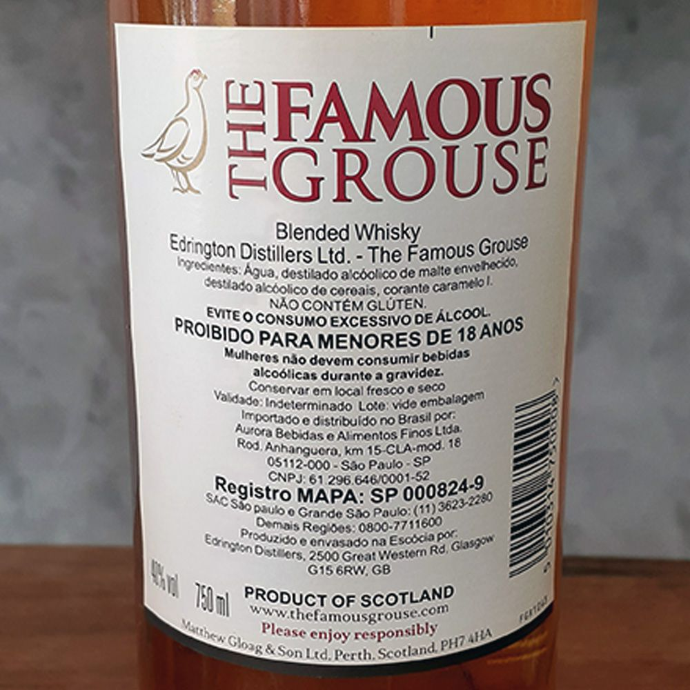 Whisky The Famous Grouse - 750 ml  - DRUNK DOG DELIVERY