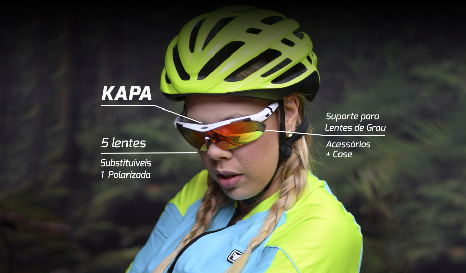 Óculos Ciclista 5 Lentes KAPA Bikes