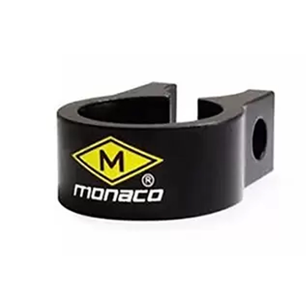 Abraçadeira Selim Alum 31,7mm Over Preto Monaco