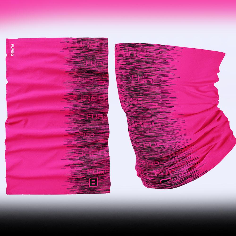 Bandana Tubular Multiuso Furbo Rainbow Rosa Tamanho P