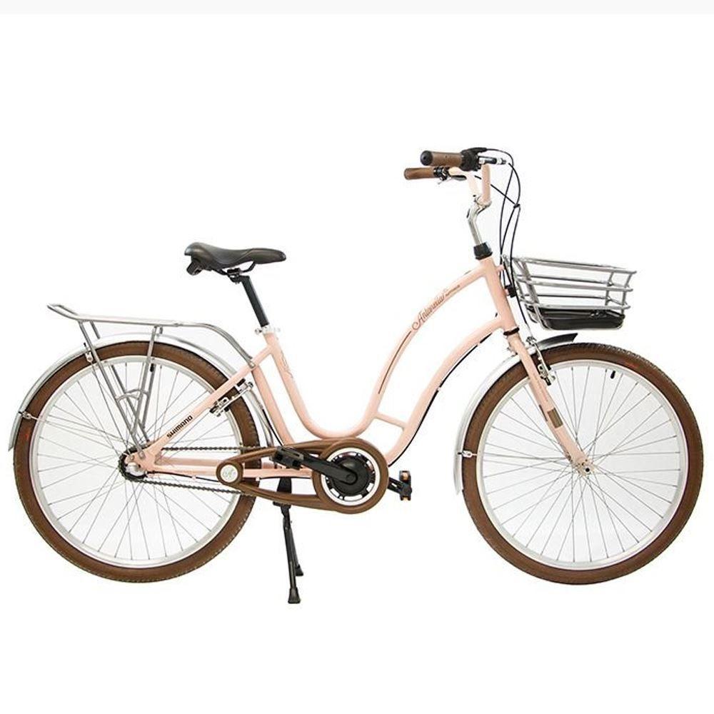 Bicicleta 26 Antonella Nexus 3 velocidades Rosa