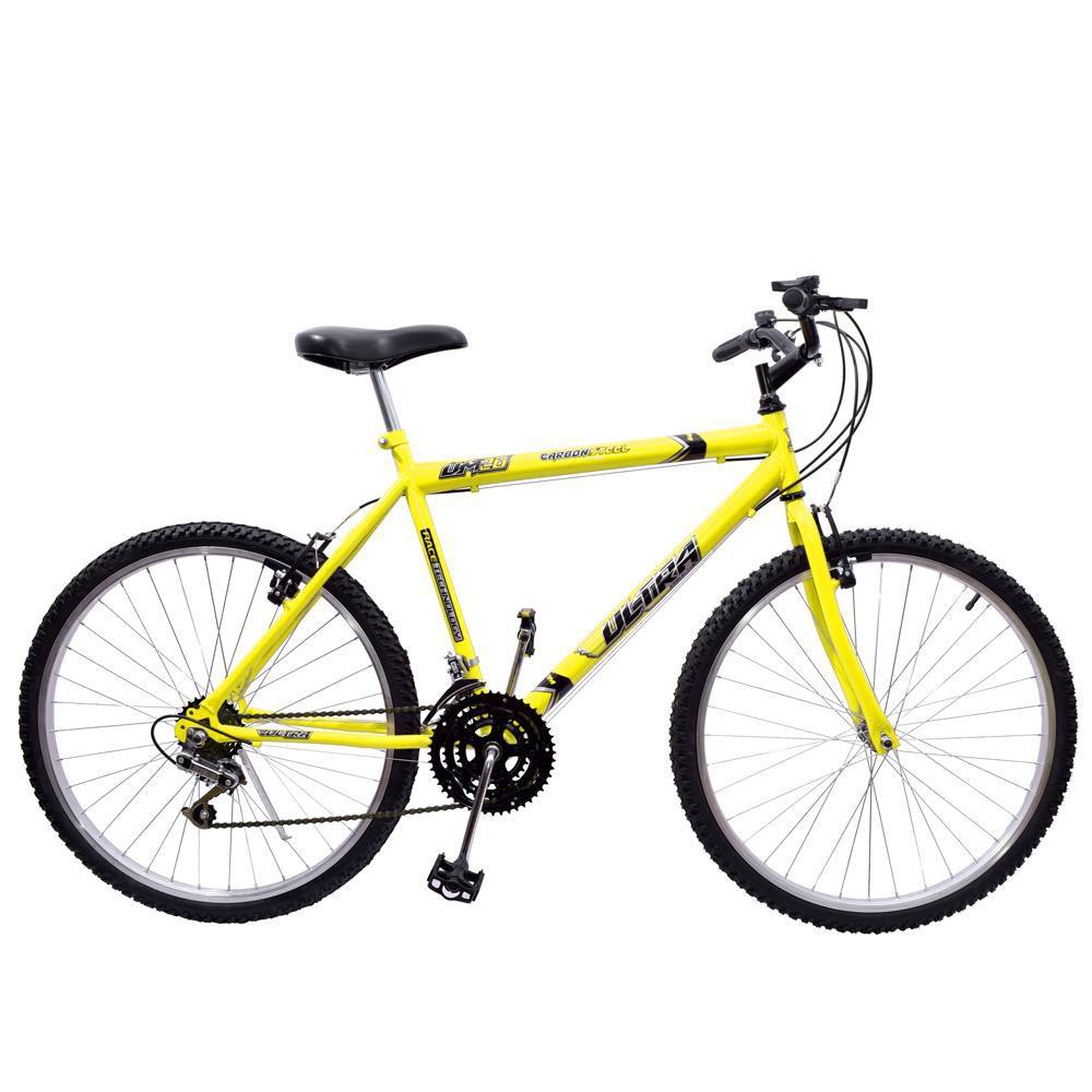 Bicicleta 26 Ultra Aço 18 Marchas Amarelo