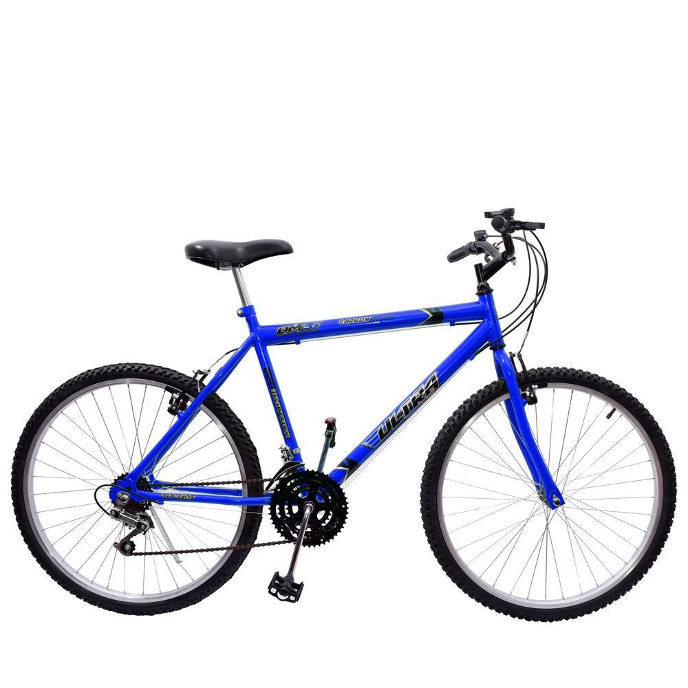 Bicicleta 26 Ultra Aço 18 Marchas Azul